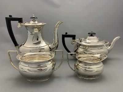 Silver 4 PIECE TEA & COFFEE SET