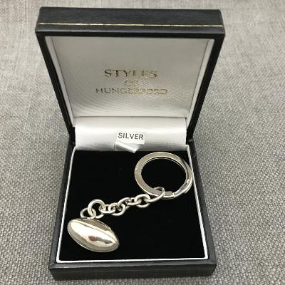 Silver RUGBY KEY RING