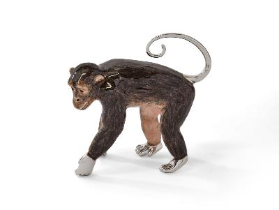 Saturno Large Silver Monkey