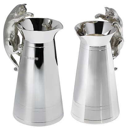 Silver 'Cat that Got the Cream' Jug
