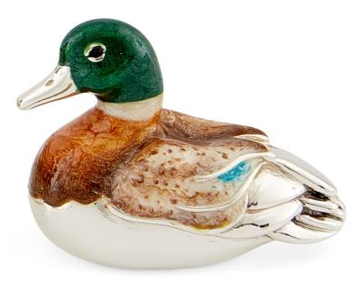 Silver and Enamel Duck