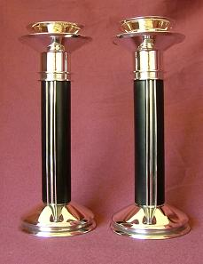x Contemporary Design Silver Candlesticks
