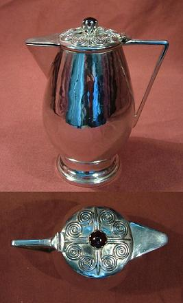 ALEXANDER WOLFE Silver Covered Jug
