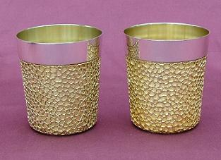 Pair Silver Beakers
