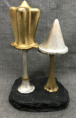 CHRISTOPHER LAWRENCE Two Silver Mushrooms