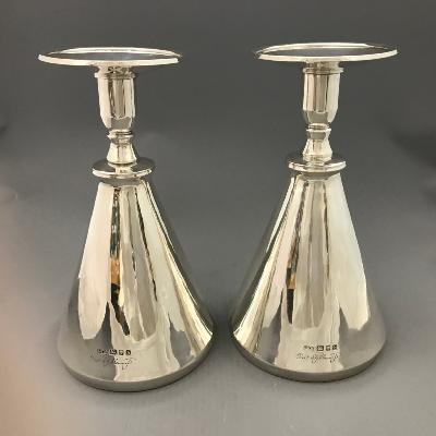 ERIC CLEMENTS Silver CANDLESTICKS