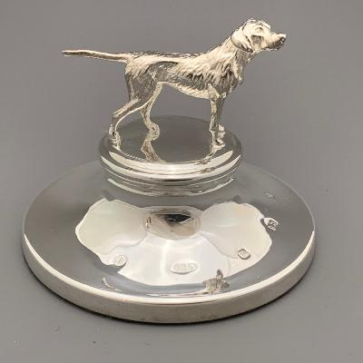 Silver DOG PAPERWEIGHT