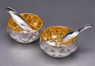 Silver Salsa Bowl and Spoon