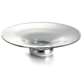 Glass and Silver Bowl