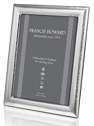 Silver Hammered Photograph Frame