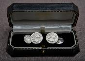 x MALCOLM APPLEBY Silver 'Bee' Cufflinks