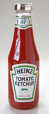 Silver TOMATO KETCHUP BOTTLE LID