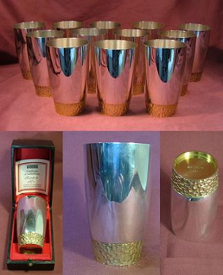 Set of Twelve Silver Beakers / Goblets
