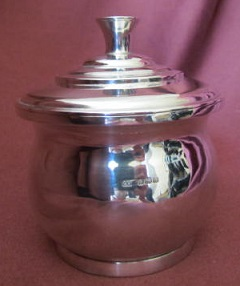MARY LAINCHBURY Silver Covered Bowl/Tea Caddy