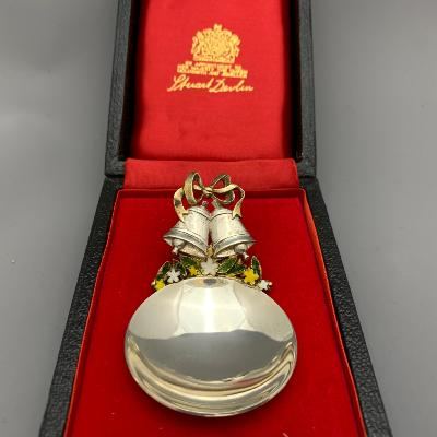 STUART DEVLIN Silver CADDY SPOON  PRINCE ANDREW'