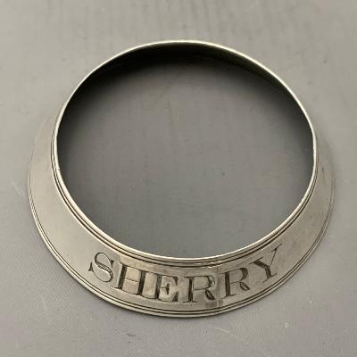 PHIPPS & ROBINSON Silver SHERRY Bottle Ring