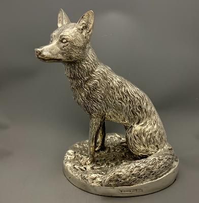 Silver Large SITTING FOX