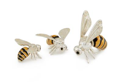 Saturno Silver and Enamel Bee