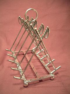x Silver POLO TOAST RACK