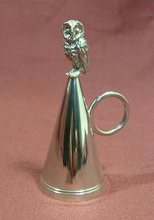 Owl Silver Candle Snuffer