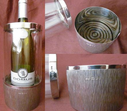 Silver Wine Coaster / Cooler