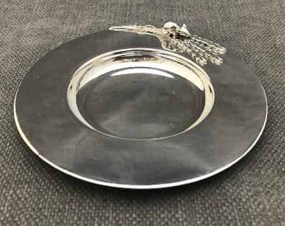 SARAH JONES Silver Mouse Dish
