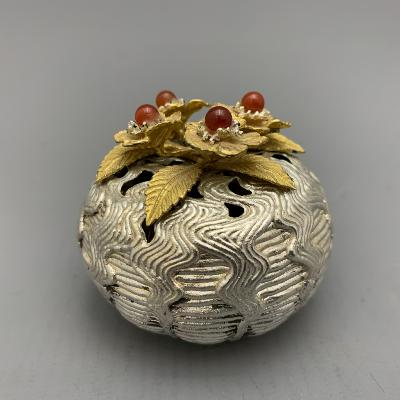 CHRISTOPHER LAWRENCE Silver Pot POMANDER / POT POURRI