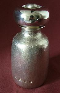 Large Quality Silver Peppermill