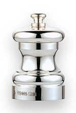 Small Silver Peppermill
