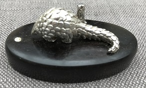 PATRICK MAVROS Silver Pangolin Menu Holder