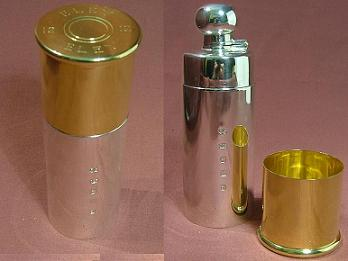 Silver Shotgun Cartridge Hip Flask