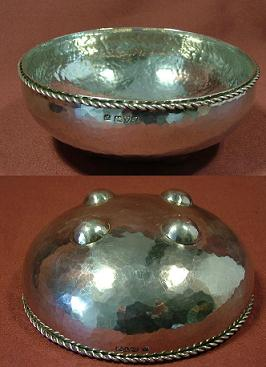 Silver Hammered Bowl