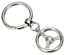 Silver Steering Wheel Key Ring