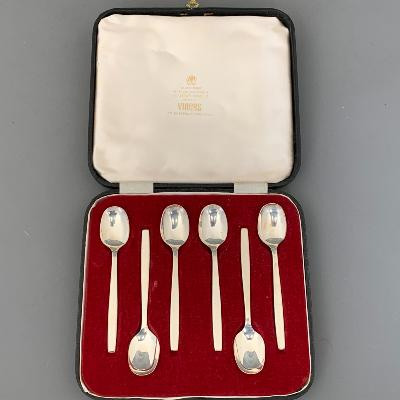 GERALD BENNEY Silver CHELSEA TEASPOONS 1964