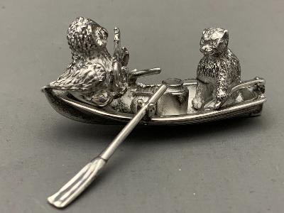 SARAH JONES Silver OWL & PUSSY CAT