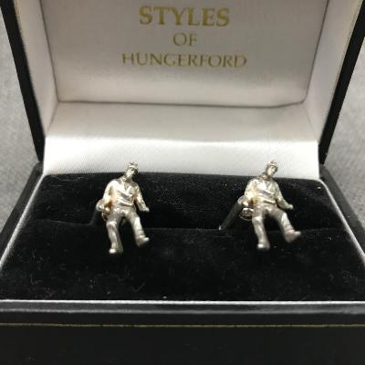 x REBECCA JOSELYN Silver 'PEOPLE' Cufflinks
