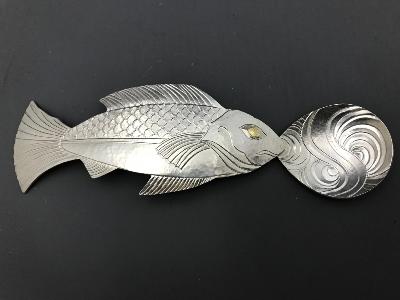 ROD KELLY Silver FISH CADDY SPOON