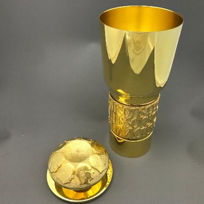 AURUM Silver Gilt 'CONGRESS of EUROPE' 1973 Standing Cup & Cover