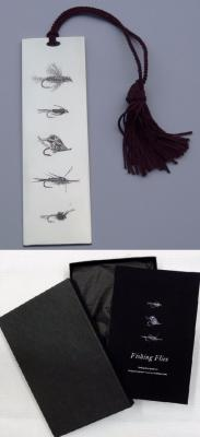 Silver 'Fishing Flies' Bookmark